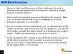 bpm best practices