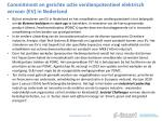 commitment en gerichte actie verdienpotentieel elektrisch vervoer ev in nederland