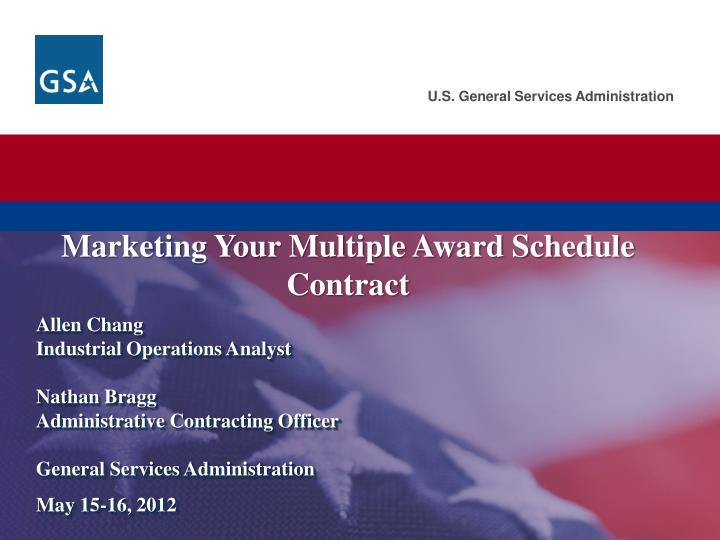 marketing your multiple award schedule contract n.