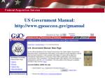 us government manual http www gpoaccess gov gmanual