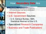 how secondary data are obtained
