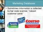 marketing databases