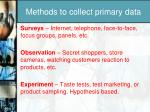 methods to collect primary data