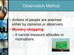 observation method