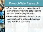 point of sale research