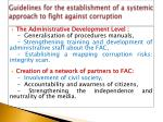 guidelines for the establishment of a systemic approach to fight against corruption1