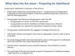 what does the act mean preparing for adulthood