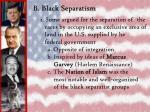 b black separatism