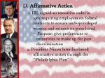d affirmative action