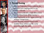 f forced busing