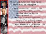 g african american civil rights movement in retrospect