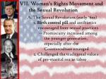 vii women s rights movement and the sexual revolution