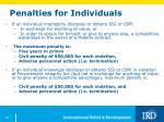 penalties for individuals