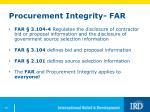 procurement integrity far