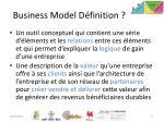 business model d finition