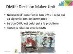 dmu decision maker unit