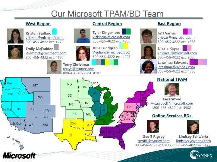 Our Microsoft TPAM/BD Team