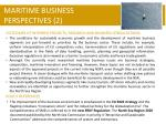 maritime business perspectives 2