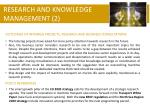 research and knowledge management 2