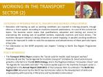 working in the transport sector 2