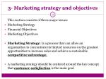 3 marketing strategy and objectives