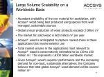 large volume scalability on a worldwide basis
