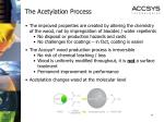 the acetylation process