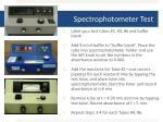 spectrophotometer test