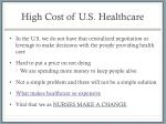 high cost of u s healthcare1