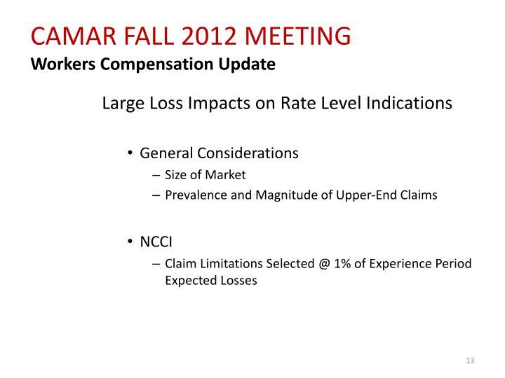 CAMAR FALL 2012 MEETING