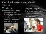 cost of college vocational school training