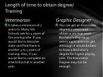 length of time to obtain degree training
