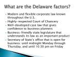 what are the delaware factors