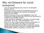 why not delaware for social enterprise