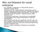 why not delaware for social enterprise1