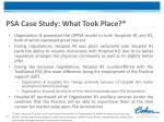 psa case study what took place
