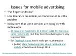 issues for mobile advertising