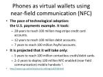 phones as virtual wallets using near field communication nfc