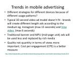 trends in mobile advertising
