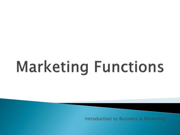 marketing functions n.