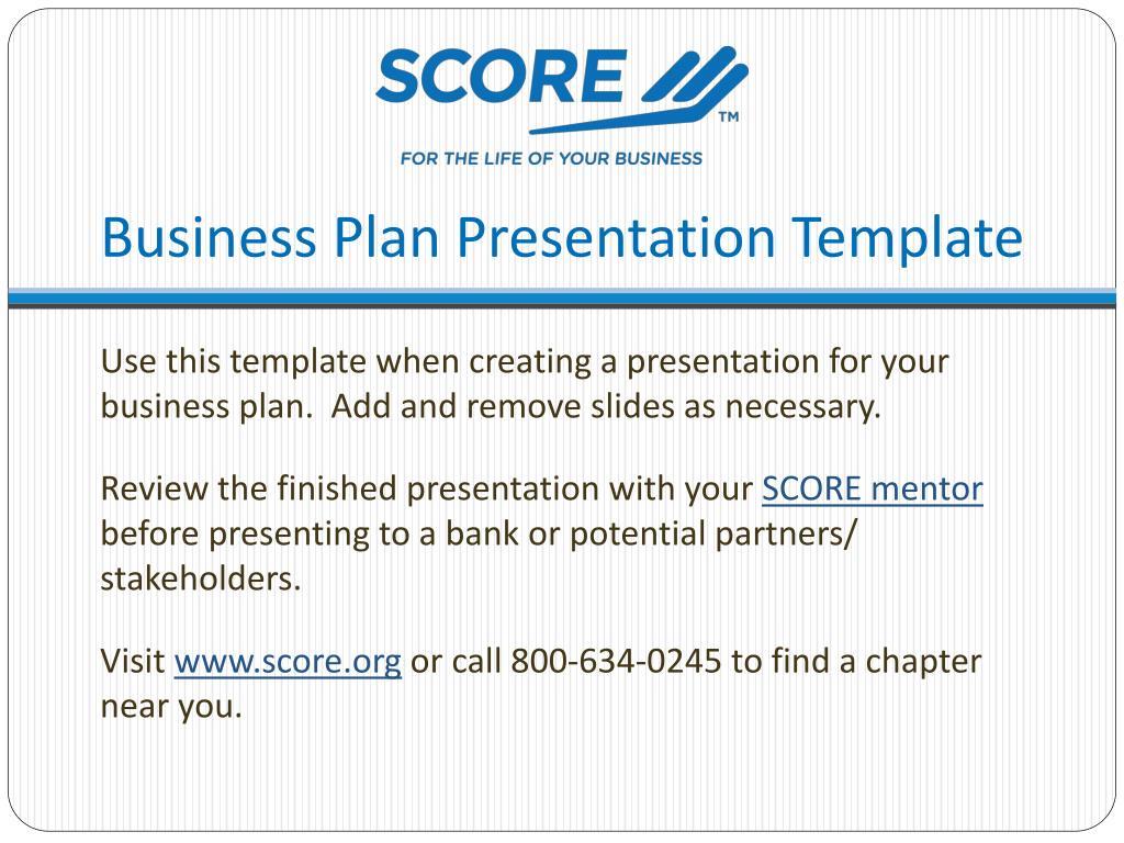 Ppt Business Plan Presentation Template Powerpoint Presentation