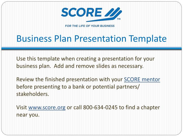 business plan presentation template n.