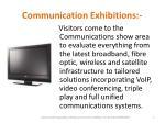communication exhibitions