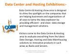 data center and hosting exhibitions