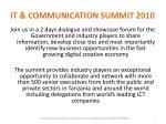 it communication summit 2010