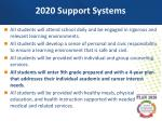 2020 support systems