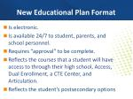 new educational plan format