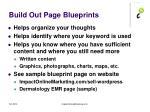 build out page blueprints