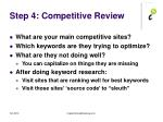 step 4 competitive review