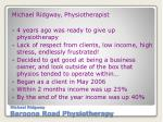michael ridgway baroona road physiotherapy